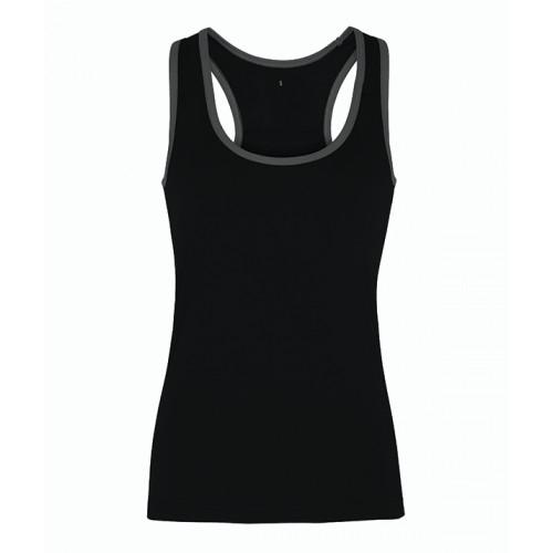 Tri Dri Women's TriDri panelled fitness vest Black