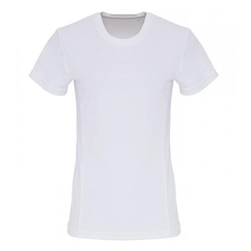 Tri Dri Ladies TriDri ® Embossed panel T shirt White