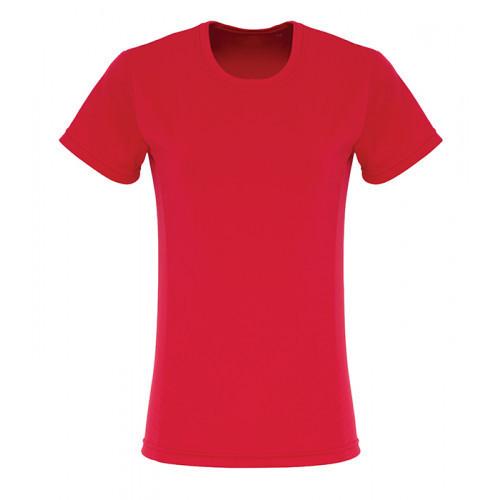 Tri Dri Ladies TriDri ® Embossed panel T shirt Fire Red