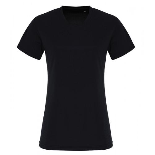 Tri Dri Ladies TriDri ® Embossed panel T shirt Black