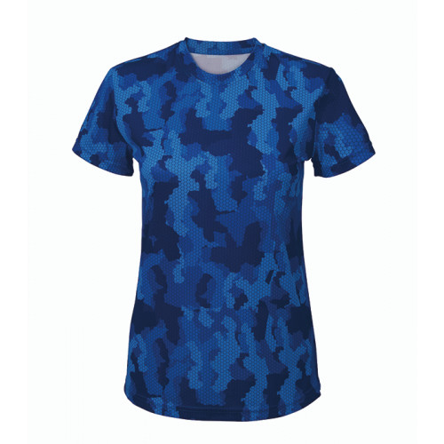Tri Dri Women's TriDri Hexoflage™ performance t-shirt Camo Royal