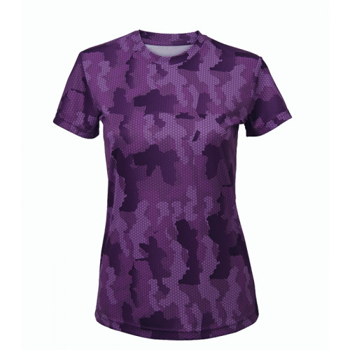 Tri Dri Women's TriDri Hexoflage™ performance t-shirt Camo Purple
