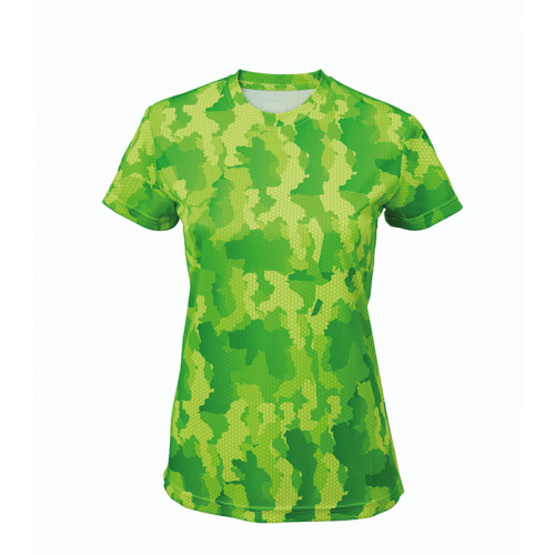 Tri Dri Women's TriDri Hexoflage™ performance t-shirt Camo Green