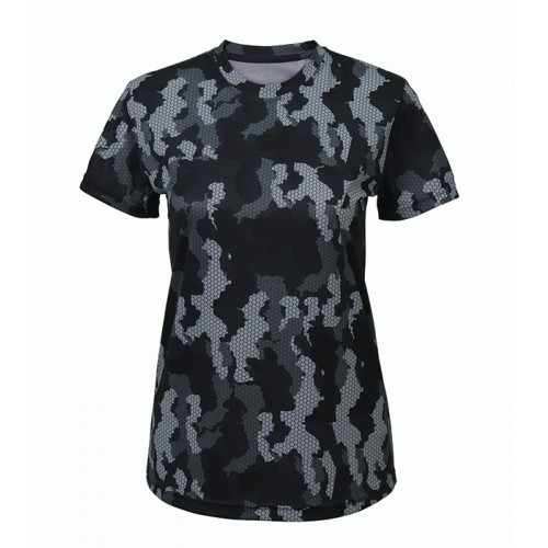 Tri Dri Women's TriDri Hexoflage™ performance t-shirt Camo Charcoal