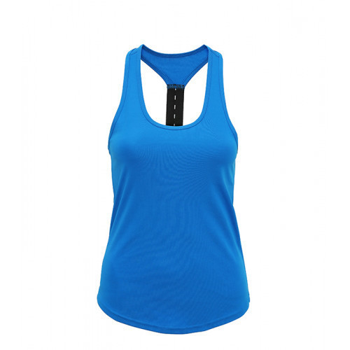 Tri Dri Women's TriDri® performance strap back vest Sapphire Blue