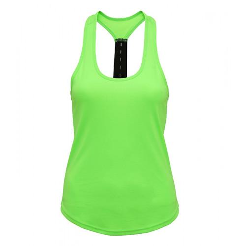 Tri Dri Women's TriDri® performance strap back vest Lightning Green