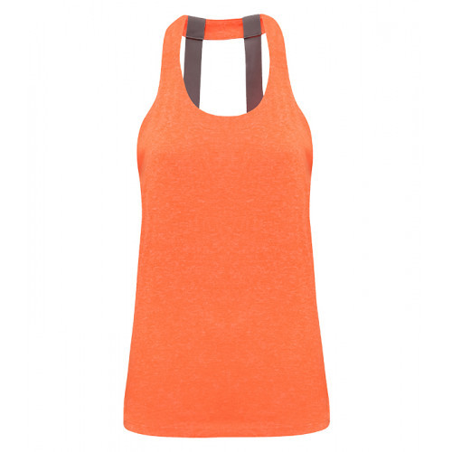 Tri Dri Women's TriDri® Double Strap Back Vest Lightning Orange Melange