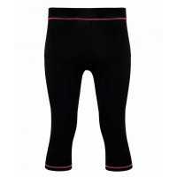 Tri Dri Women's Capri TriDri® fitness leggings Black/Hot Pink