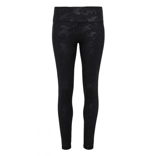 Tri Dri Women's TriDri® Performance Camo Leggings Full Length Black Camo