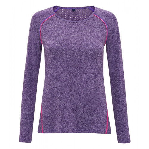 "Tri Dri Women's TriDri® ""Lazer cut"" Scooped Top Purple Melange"