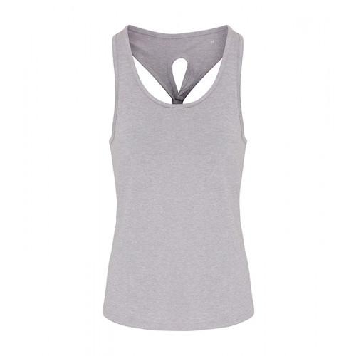 Tri Dri Ladies TriDri ® Yoga Knot Vest Silver Melange