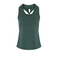 Tri Dri Ladies TriDri ® Yoga Knot Vest Forrest Green/Black Melange