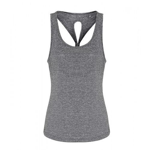 Tri Dri Ladies TriDri ® Yoga Knot Vest Black Melange