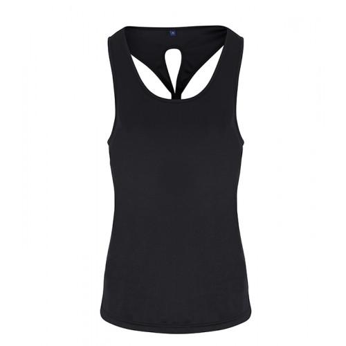 Tri Dri Ladies TriDri ® Yoga Knot Vest Black