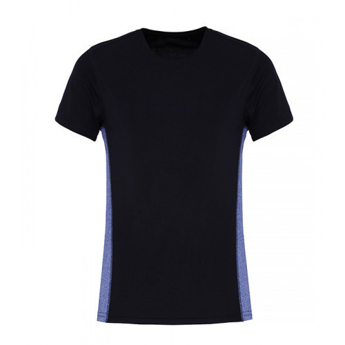 Tri Dri Ladies TriDri ® Contrast Panel Performance Tshirt Navy/Blue Melange
