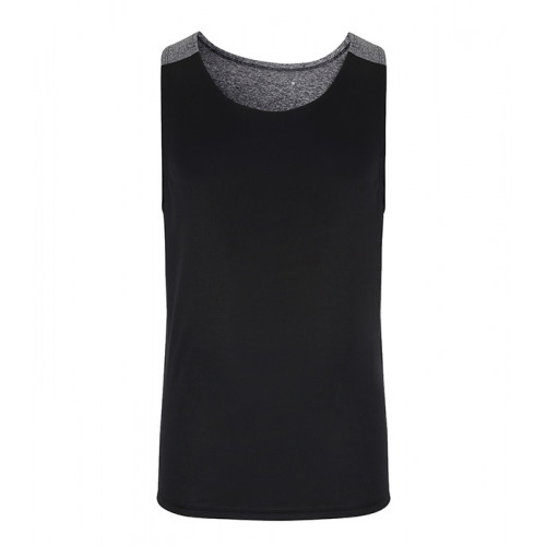 Tri Dri Mens TriDri® Performance Contrast vest Black Melange/Black