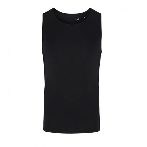 Tri Dri Mens TriDri® Performance Contrast vest Black/Black Mesh