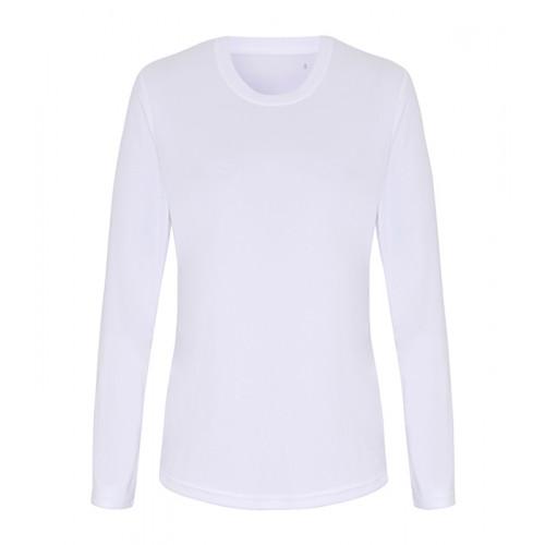 Tri Dri Ladies TriDri® long Sleeve Performance T Shirt White