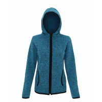 Tri Dri Women's melange knit fleece jacket Sapphire/Black