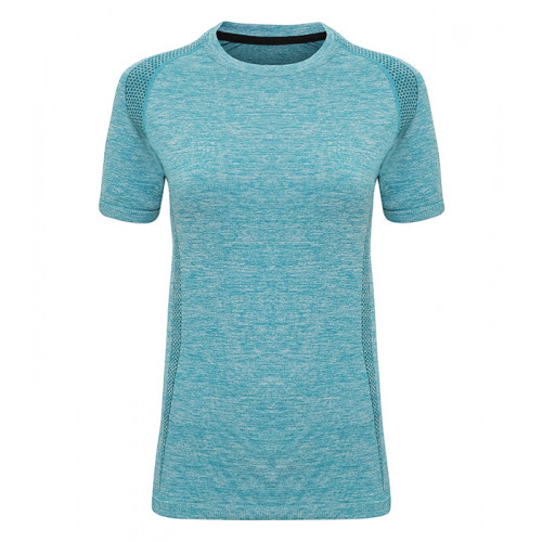 "Tri Dri Women's TriDri® Seamless ""3D-fit"" Multi-sport Performance S/S Top Turquoise"