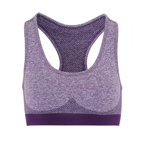 "Tri Dri Womens Seamless ""3D Fit"" Multi-sport Sculpt Bra Purple"