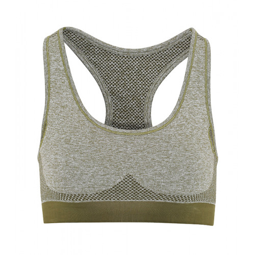 "Tri Dri Womens Seamless ""3D Fit"" Multi-sport Sculpt Bra Olive"