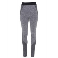 "Tri Dri Womens Seamless ""3D Fit"" Multi-sport Sculpt Leggings Charcoal"