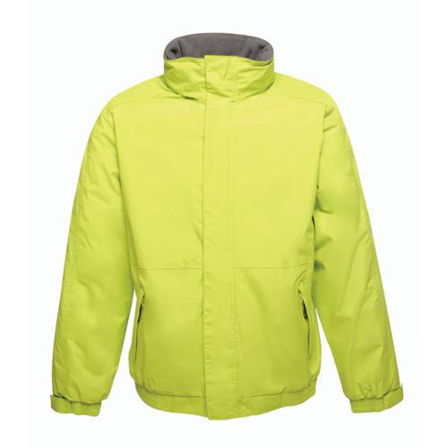 Regatta Dover Fleece Lined Bomber Jacket Key Lime/Seal Grey