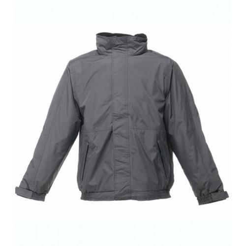 Regatta Dover Fleece Lined Bomber Jacket Seal Grey/Black