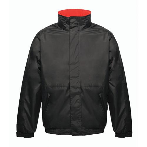 Regatta Dover Fleece Lined Bomber Jacket Black/Red