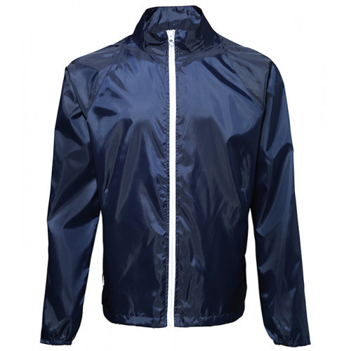 2786 Contrast Zero lightweight jacket Navy/White
