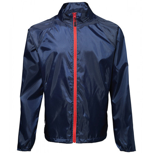 2786 Contrast Zero lightweight jacket Navy/Red