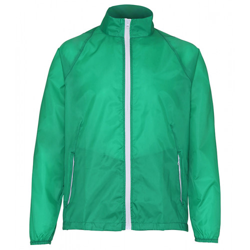 2786 Contrast Zero lightweight jacket Kelly Green/White