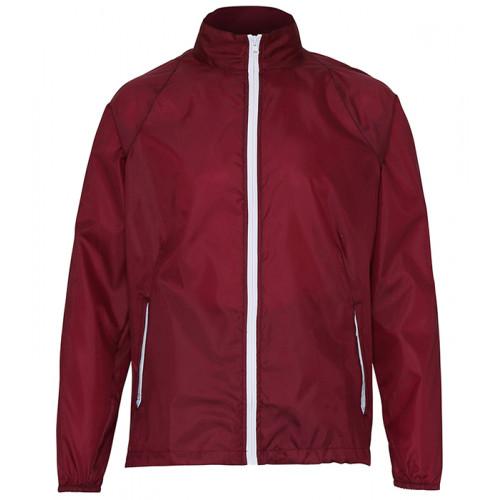 2786 Contrast Zero lightweight jacket Burgundy/White