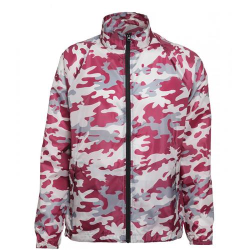 2786 Contrast Zero lightweight jacket Bold Camo Burgundy