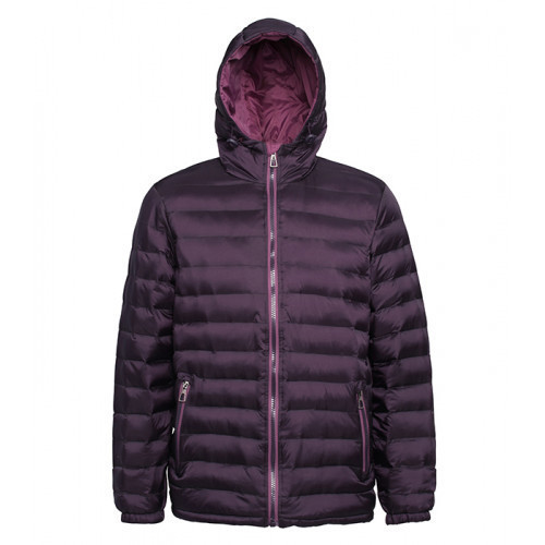 2786 Men's Padded Jacket Aubergine/Mulberry