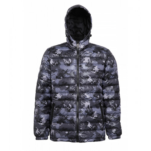 2786 Men's Padded Jacket Camo Grey