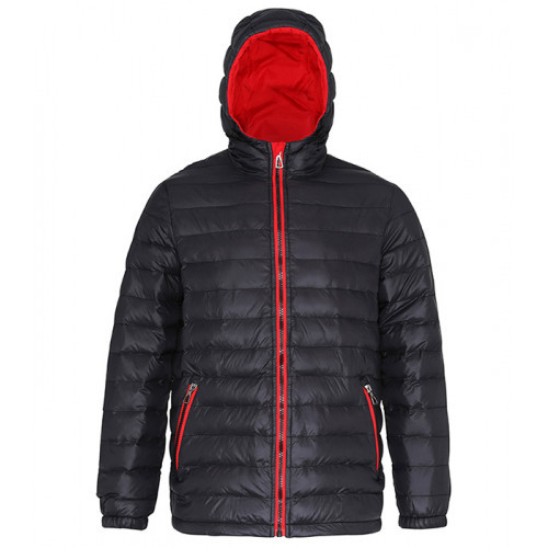 2786 Men's Padded Jacket Black/Red