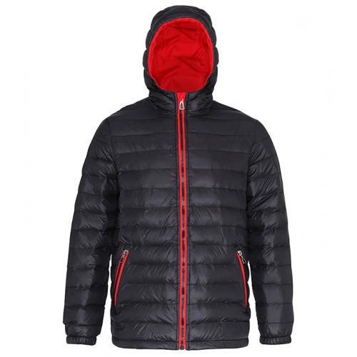 2786 Men's Padded Jacket Black/Red