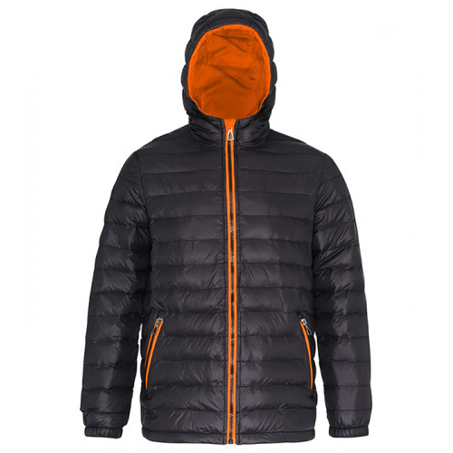 2786 Men's Padded Jacket Black/Orange