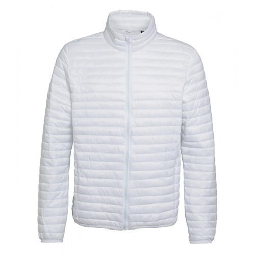 2786 Men's Tribe Fineline Padded Jacket White