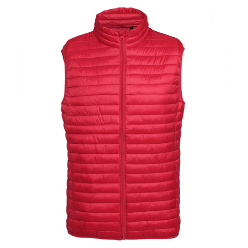 2786 M´s Tribe Fineline Padded Gilet Red