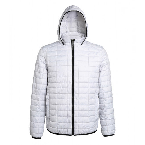 2786 M´s Honeycomb Hooded Jacket White