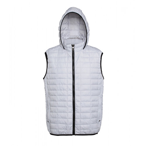 2786 Honeycomb hooded gilet White