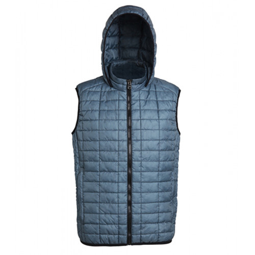 2786 Honeycomb hooded gilet Steel