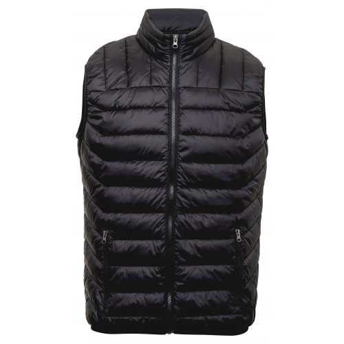 2786 Domain two-tone Gilet Black