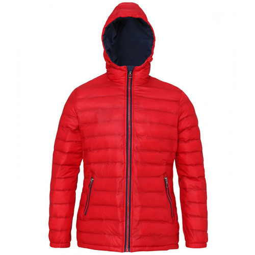 2786 Women's Padded Jacket Red/Navy