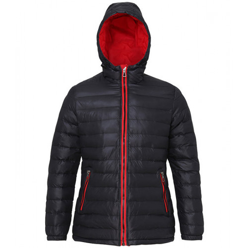 2786 Women's Padded Jacket Black/Red