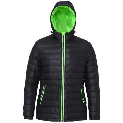 2786 Women's Padded Jacket Black/Lime