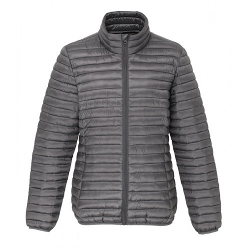 2786 Women's Tribe Fineline Padded Jacket Steel